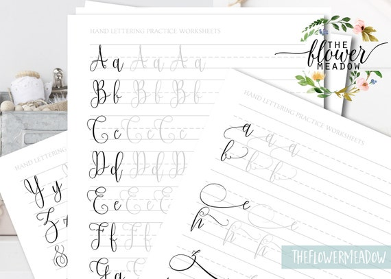 Calligraphy worksheet learn beginners hand