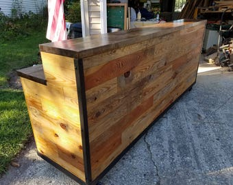 Reclaimed Reception Desk / Counter / Sales Booth