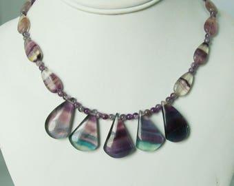 Delicate Purple Fluoride Necklace