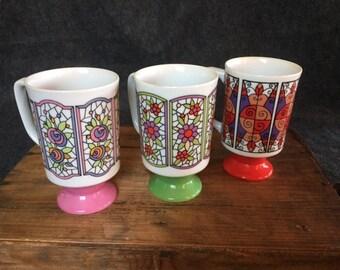 Vintage mod coffee cups