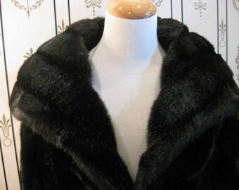 Beautiful Faux Fur Full-Length Coat