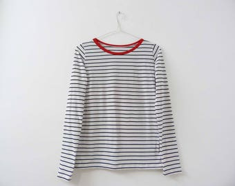 """Striped top """"Red ribbon"""""""