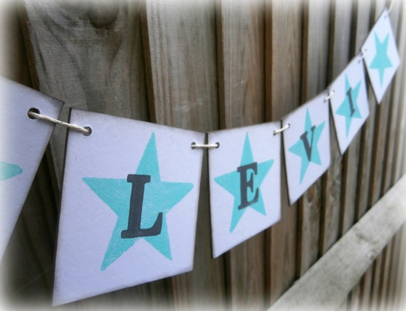 personalized name banner boys name garland boys bedroom decorations