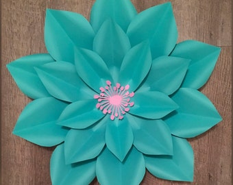 Paper Flower Template #4