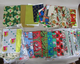 large lot vintage Christmas wrapping paper 2 1/2 pounds