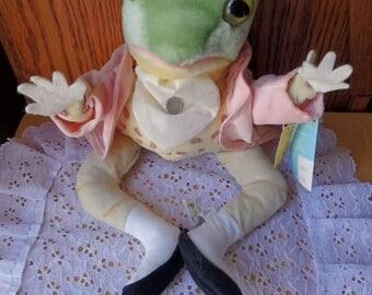 Beatrix Potter Eden Mr Jeremy Fisher Plush Stuffed Frog Beatrix Potter Books Vintage Jeremy Fisher Flog