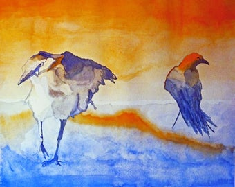 "Giclee print ""Gesture Crows"" - price includes shipping"