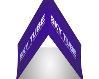 Sky Tube Triangle Hanging Banners with Hardware 8' x 2'