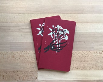 "5"" x 8.5"" Moleskine Notebook - Handprinted Go Haunt Someone Else"