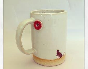 The Bull Bull Collection Black Cat mug