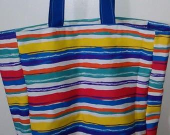 XL Rainbow Stripe Eco Friendly Bag