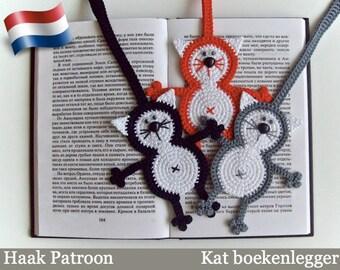 069NLY Kat Boekenlegger of decoratie - Amigurumi Haak patroon - PDF file door Zabelina Etsy