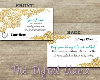 Honey & Lace Personalized Busines Card - Honey and Lace Consultant Business Card - Honey and Lace Double Sided Card - Digital Download
