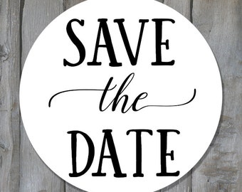 Customizable Save the Date Labels - Save the Date Envelope Seals - Save the Date Stickers (STD1) - Buy 3 Get 1 Free