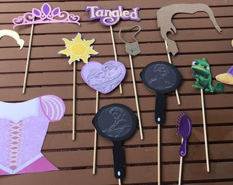 Tangled Photo Booth props / Rapunzel photo Booth props