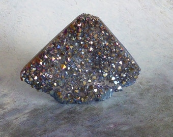 Titanium Quartz Cluster ~ Semiprecious ~ 60mm x 48mm