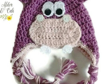 Hippo hat (girls hippo hat)