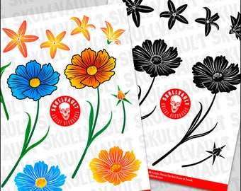 Flowers Vector Illustrations - Garden