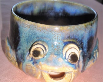 Hand Made Art Pottery Fish Mug/Signed