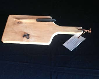 Alder bread board with knife