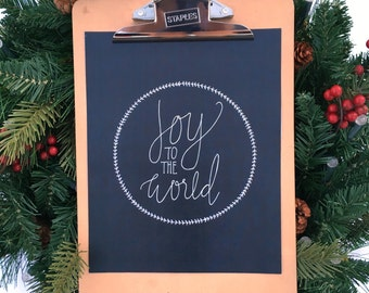 SALE!!** Joy to the World print, 8x10 Christmas print