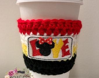 """The """"Mouse Love"""" Cozies / Coffee Cozie / Tea Cozie / Tumbler Cozie / Crochet Cozie"""