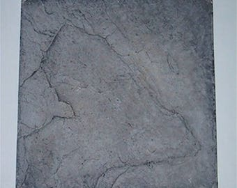 Plastic Molds for Concrete - 2 Piece Square-Cut Slate Stone Pavers
