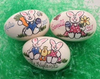 Bunny Egg - Personalized Ceramic Easter Eggs