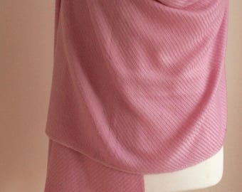 15% OFF Special Offer, Elegant baby pink  Pashmina , Limited Offer,Gift for her, Shawl, Wrap,Birthdaygift,