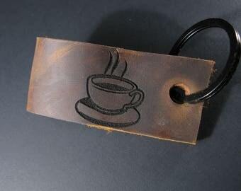 Coffee in my veins keychain/zipper pull