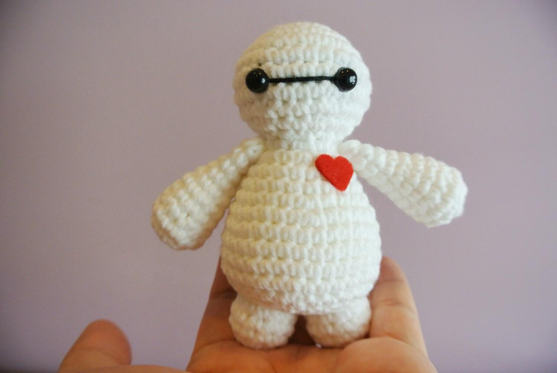 Crochet Baymax Amigurumi Handmade Crochet Amigurumi Toy Doll