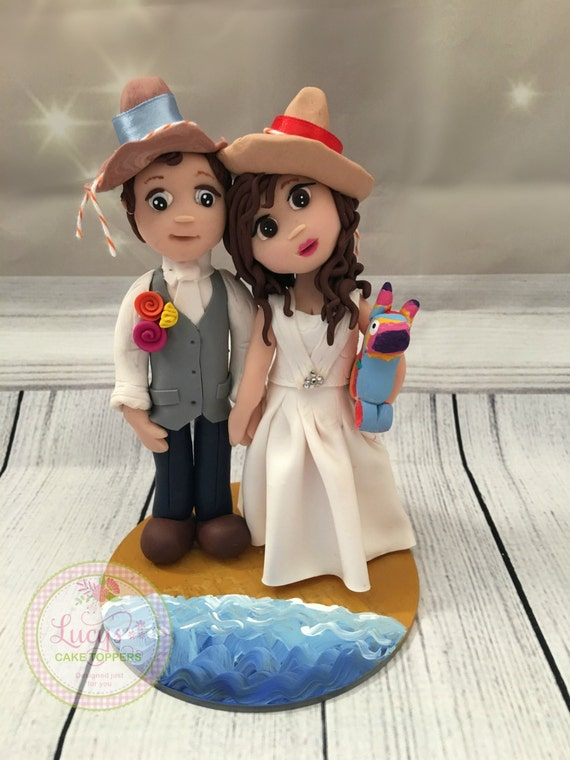 Themed/ Wedding cake Topper / fully sculpted - Fully Personalised a lovely keepsake