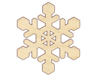 "Snowflake 4""-12"" - Wood Cutout  - 160237 - Unfinished wood"