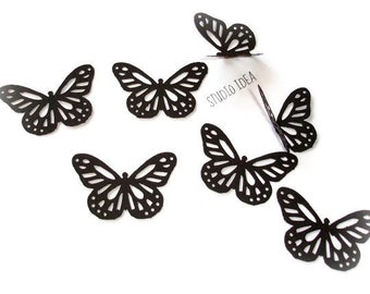 40 Large Black Monarch Butterfly Cut outs-Set of 40 pcs
