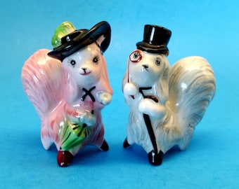 Anthropomorphic Salt and Pepper Dog Shakers by PY Japan Norcrest
