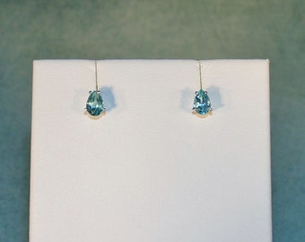 Precious Paraiba Apatite Stud Earrings