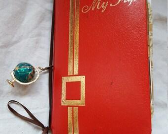 """Junk journal, travel journal, art journal, Smashbook, album, diary, """"My Trip"""" travel journal, Mixed Media"""