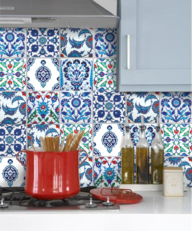 tile stickers vinyl decals for backsplash kitchen or bath or. Black Bedroom Furniture Sets. Home Design Ideas