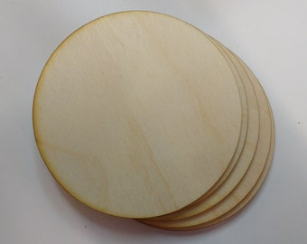 wooden coaster blanks 9cm ROUND laser cut birch ply embellishments decoupage scrapbooking