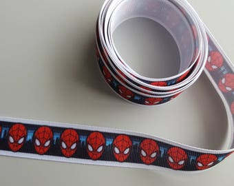 "7/8"" Spiderman Marvel Grosgrain Ribbon 3 yards Spiderman Trim Marvel Ribbon Marvel Trim 3 Yards"