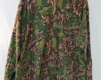 Vintage Long Sleeve Mossy Oak Shirt XL