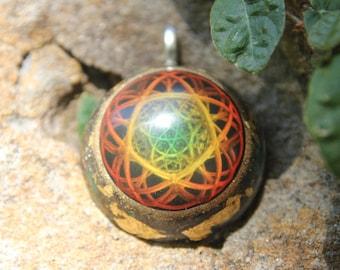 Micro cosmic star strings orgonite pendant