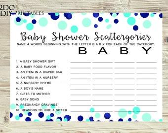 blue baby shower blue confetti baby scattergories baby shower