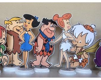 Flinstone Centerpieces. Flintstone Birthday Party, Pebbles Birthday Party, Bam Bam Birthday Party
