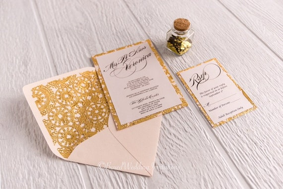 Quinceanera invitationsweet 15 invitation cardgold like this item stopboris Images