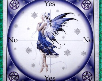 Snowflake Fairy Scrying Mat, Dowsing wiccan Magic Divination.