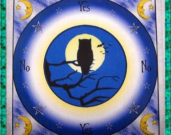 Owl Scrying Mat, Dowsing wiccan Magic Divination, fairy gift