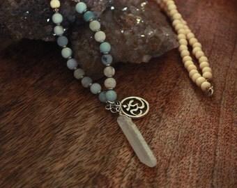 Mala buddhist 108 beads necklace