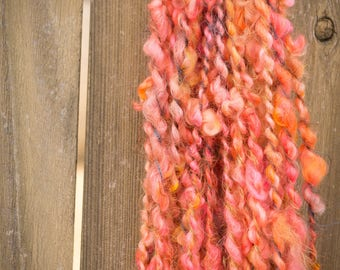 Sunset Silhouette Cotswold Lockspun Art Yarn