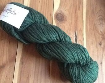 Knit Picks Billow Cotton, Ivy green,  Destash yarn, cotton yarn